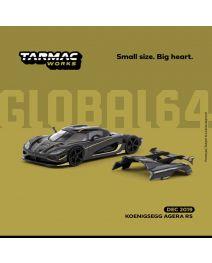 Tarmac Works GLOBAL64 1:64 合金模型車 - Koenigsegg Agera RS – Dark Grey / Yellow