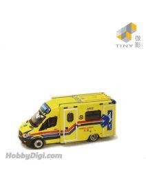 Tiny 微影 City 展會限定合金車 - MB Sprinter Ambulance A502