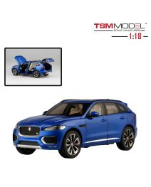 TSM Model 1:18 樹脂模型車 - Jaguar F-Pace Rhodium Blue