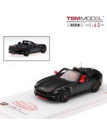 TSM Model 1:43 樹脂模型車 - Abarth 124 Spider San Marino 1972 Black