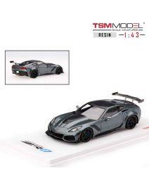TSM Model 1:43 樹脂模型車 - Chevrolet Corvette C7 ZR-1 Dark Shadow Grey