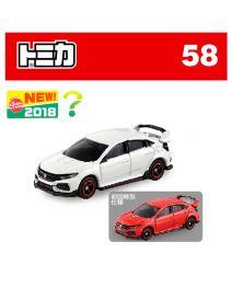[2018新車貼] Tomica 合金車 No58 - Honda Civic Type R 一套兩架