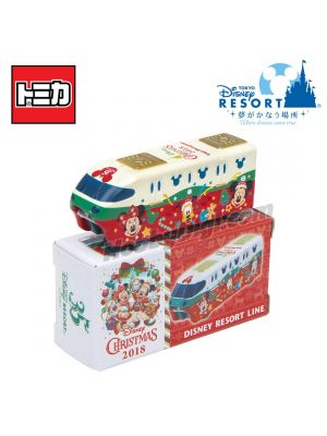 Tomica Tokyo Disney Resort Limited Diecast Model Car - Disney Resort Line Christmas Collection 2018