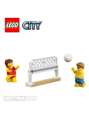 LEGO Loose Decoration and Minifigure City: Beach Volleyball with Young Man and Woman