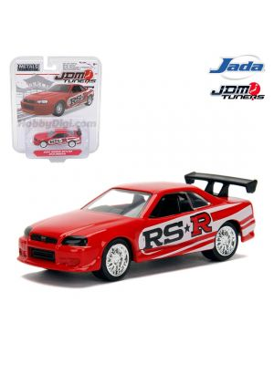 JADA JDM Tuners 1:64 Diecast Model Car - 2002 Nissan Skyline GT-R R34 Red