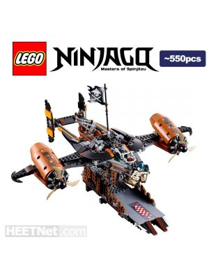 LEGO Loose Machine Ninjago: Misfortune s Keep with the Detchable Escape Boat