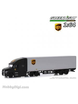 Greenlight 1:64 Diecast Model Car - Mack Anthem 18 Wheeler Tractor-Trailer - United Parcel Service (UPS) Freight (Hobby Exclusive)