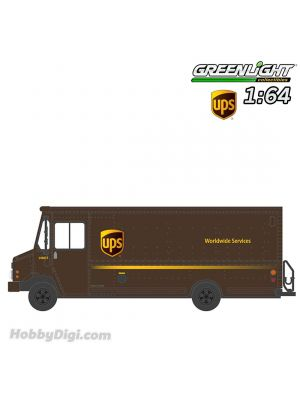 Greenlight 1:64 Diecast Model Car - H.D. Trucks Series 17 - 2019 Package Car - United Parcel Service (UPS) Solid Pack
