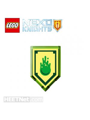 LEGO Loose Accessories Nexo Knights: Aaron Scannable Shield 108 Powers of Slime Blast