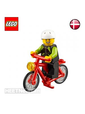LEGO Loose Minifigure City: Cyclist with Bicycle