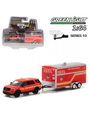Greenlight 1:64 合金車  - 2016 Ford Explorer Official Fire Department City of New York