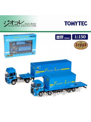 TOMYTEC Diorama Collection 1:150 Model Car Set - Japan Freightliner Container truck