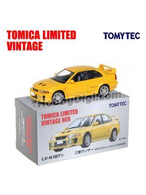 TOMYTEC Tomica Limited Vintage NEO 合金車 - LV-N187a Mitsubishi Lancer GSR Evolution V (黃)