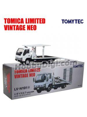 TOMYTEC Tomica Limited Vintage NEO Diecast Model Car - LV-N191a ISUZU ELF Hanamidai Auto Safety Loader Big Wide