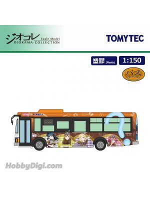 TOMYTEC Diorama Collection 1:150 Model Car – JH035 Bus 80    Tokai bus Love live! wrapping bus No. 3 car