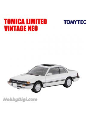TOMYTEC Tomica Limited Vintage NEO Diecast Model Car - LV-N145e Honda Prelude XX White Luxury (White)