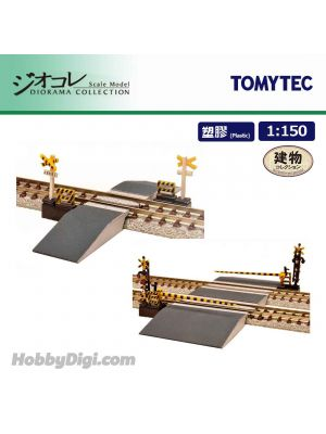 TOMYTEC Diorama Collection 1:150 Scenery Collection - Railroad Crossing C