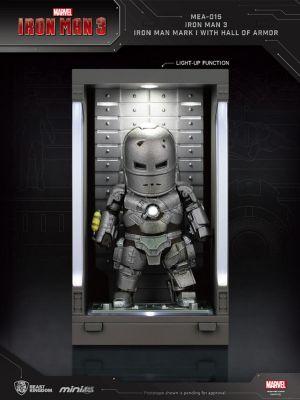 Beast Kingdom Marvel Mini Egg Attack Action MEA-015 - Iron Man 3 Iron Man Mark I with Hall of Armor