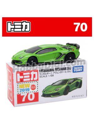 [2019 Sticker] Tomica Diecast Model Car No70 - Lamborghini Aventador SVJ