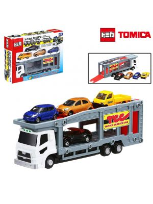 Tomica World - Car Carrier Set (Play with Tomica)