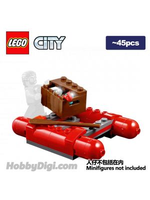 LEGO Loose Minifigure City: Crook Male with Red Fringed Shirt