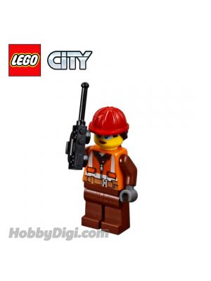 LEGO Loose Minifigure City: Female Construction Worker with Walkie-talkie