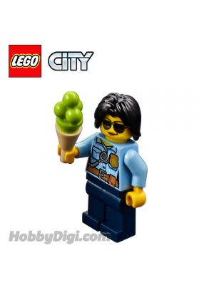 LEGO Loose Minifigure City: City Traffic Cop with Ice Cream