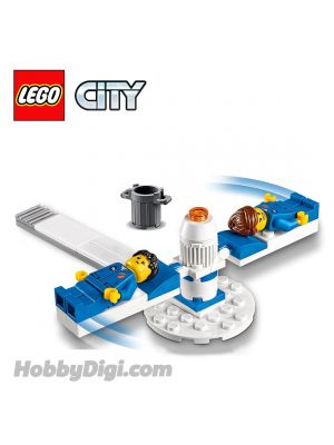 LEGO Loose Decoration and Minifigure City: 2 Astronaut, G-force training machine with 2 beds and Trashcan