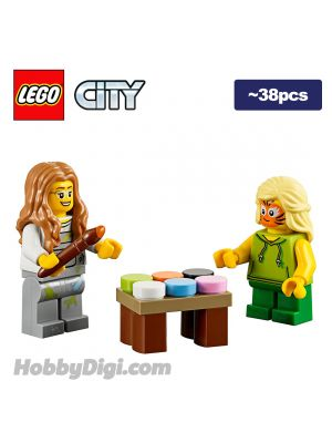 LEGO Loose Decoration and Minifigure City: Face painting table
