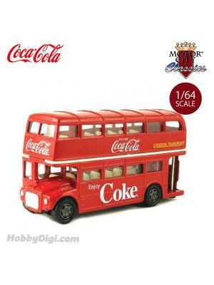 Motor City Classics Coca-Cola 1:64 Diecast Model Car - Routemaster London Double Decker Bus