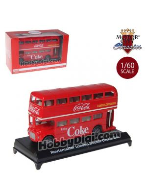Motor City Classics Coca-Cola 1:60 Diecast Model Car - Routemaster London Double Decker Bus
