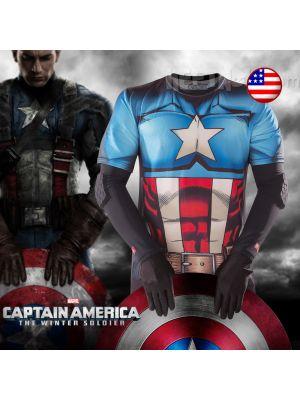 Captain America 美國隊長 尼龍運動T恤