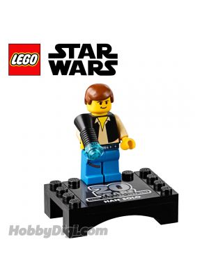 LEGO Loose Minifigure Star Wars: Han Solo (20th Anniversary) with Display Stand