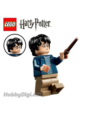 LEGO 散裝人仔 Harry Potter: Harry Potter with Dark Blue Open Jacket