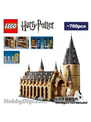 LEGO 散裝場景 Harry Potter: Hogwarts Great Hall with tower