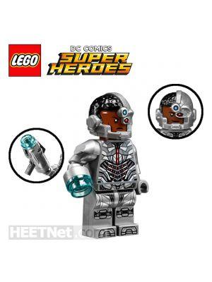 LEGO Loose Minifigure DC Comics: Cyborg with Attachable Stud-Shooting Arm