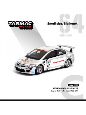 Tarmac Works HOBBY64 合金模型車- Honda Civic Type R FD2 Super Taikyu Series 2009 ST4 内山・大村・野間