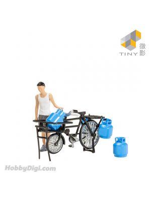 Tiny 微影 City 1:35 合金車仔 - 香港石油氣單車