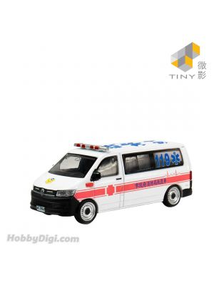 Tiny City 1:120 Diecast Model Car TW26 - Volkswagen T6 Transporter Taiwan Fire Department Ambulance