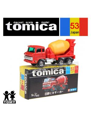 Tomica Retired Black Box Made in Japan Diecast Model Car No53 Hino Mixer Car
