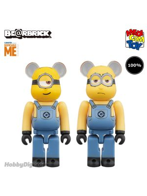 Medicom Toy Be@Rbrick - 壞蛋獎門人3 Minion Stuart & Kevin 100% 2Pack