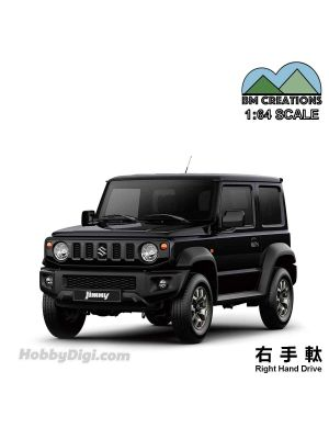 BM Creations Junior 1:64 Diecast Model Car - Suzuki Jimny (JB74) Bluish Black Pearl 3 (Right Hand Drive)
