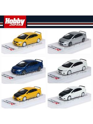 Hobby JAPAN Diecast Model Car - 1/64 Honda CIVIC TYPE R (FD2) Set of 6 cars