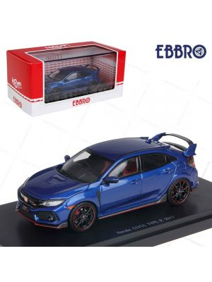 EBBRO Hot 1:43 Model Car - Honda Civic Type R 2017 (Brillant Sporty Blue Metallic)
