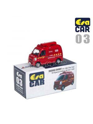 Era Car 1:64 Diecast Model Car 03 - Suzuki Every HK Mini Fire Van (First Special Edition)