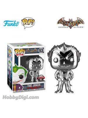 Funko IE Pop! Heroes系列 53: 小丑 The Joker Silver Chrome 《蝙蝠俠:阿卡漢瘋人院》