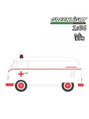 Greenlight 1:64 合金車 - 1964 Volkswagen Panel Van Ambulance (Club Vee-Dub S9)