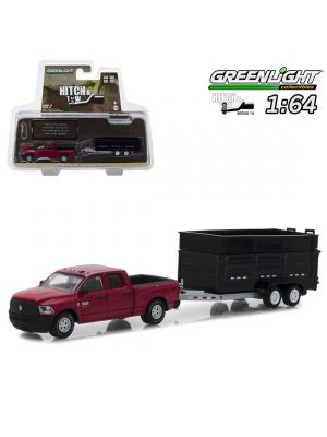 Greenlight 1:64 合金車 - Hitch and Tow S14 2017 Ram 2500 and Double-Axle Dump Trailer
