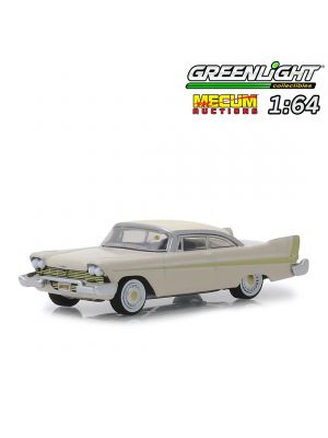 Greenlight 1:64 合金車 - 1958 Plymouth Fury Golden Commando Sand Dune White on Beige Kissimmee 2012 (MECUM AUCTIONS S3)