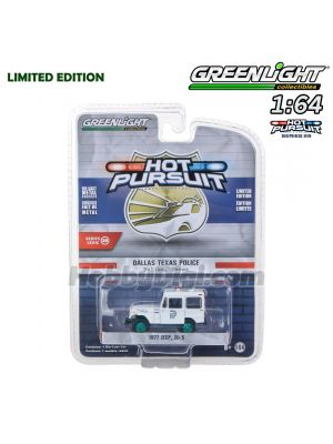 Greenlight 1:64 限量版合金車 - Hot Pursuit S29 1977 Jeep DJ-5 Dallas Texas Police